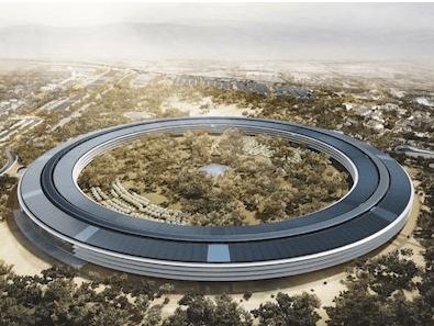 写真は建設中のアップル本社イメージです