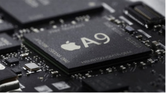 次期iphoneに採用されるA9プロセッサ画像