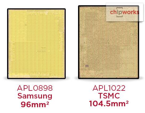 A9チップサイズの違い