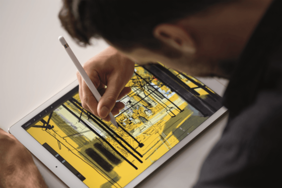 ペンシルを使って画像をデザインできるiPad Pro