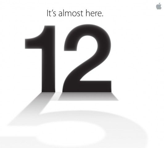 iphone5発表時の招待状