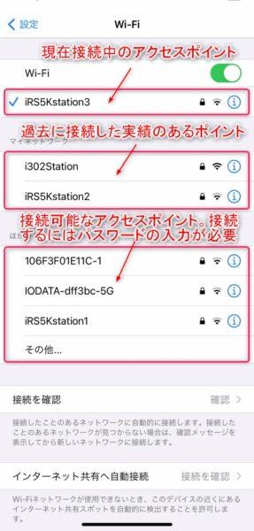 Wi-Fiアクセスポイントへの接続
