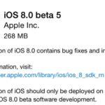 本日、開発者向けにiOS8 Beta5がリリースされました