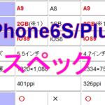 新しいiPhone6S/Plusのスペックはこうだ!