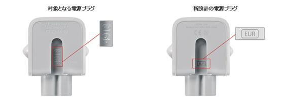 交換対象のAC電源アダプターの判別方法