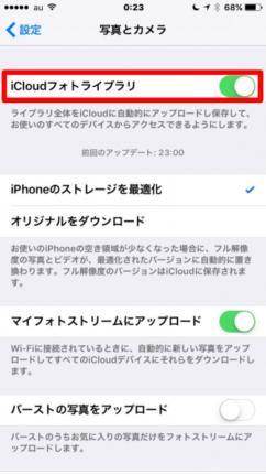 iCloudフォトライブラリ(iPhone6)