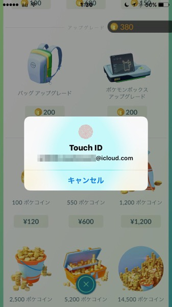 Touch ID入力