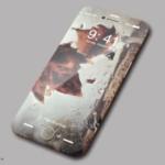 薄さ4㎜全面液晶ジェットブラックのiPhone8コンセプト