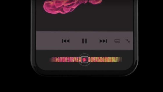 iPhoneのタッチバーイメージ