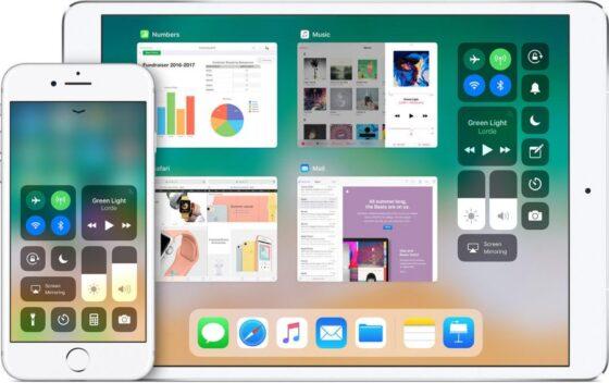 iOS11で取り入れられたiPhone/iPadのコントロールセンタ画像